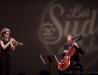photographie du show - Airelle Besson et Vincent Segal - Chapelle du Méjan - Arles - 13-02-2016