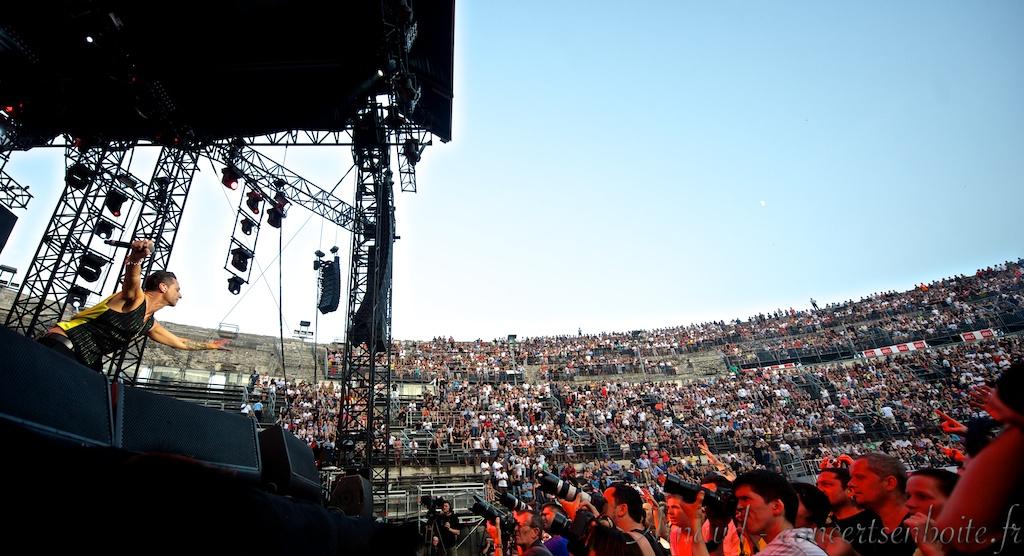 Photo Live du concert de Depeche Mode - Arènes - Nîmes - 16-07-2013