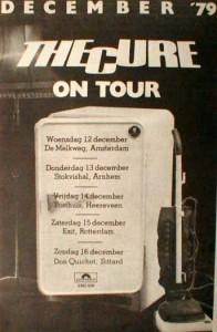 Tournée The Cure Décembre 1979 Hollande